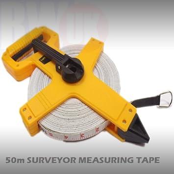 Geared Surveyor Stainless Steel Tape Measure 50 Meter