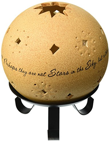 Comfort Candles In Memory by Pavilion Tea Light Candle and Stand, 6-1/2-Inch, Star Pierced Round (Candle Stand Star)