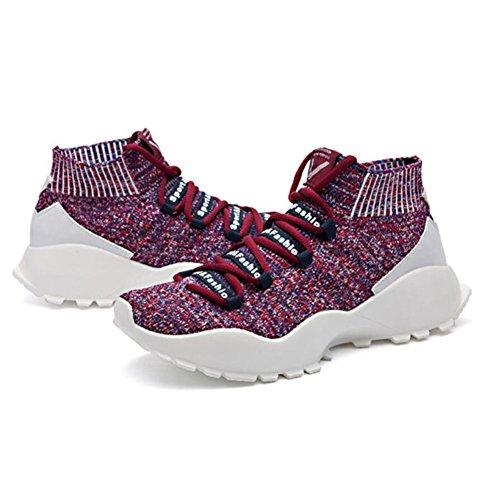 Línea Ligeros Punto Punto Hombres la Superior Gruesa Hombres la Superior Calcetines de la Zapatos Parte los Parte de de Zapatos Transpirable 2018 Casuales de de Zapatos de Casuales Size EU 002 los New de qnPxtR7zq6