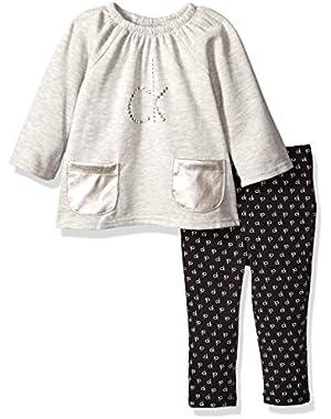 Baby Girls' Fleece Tunic with Pockets and Leggings Set