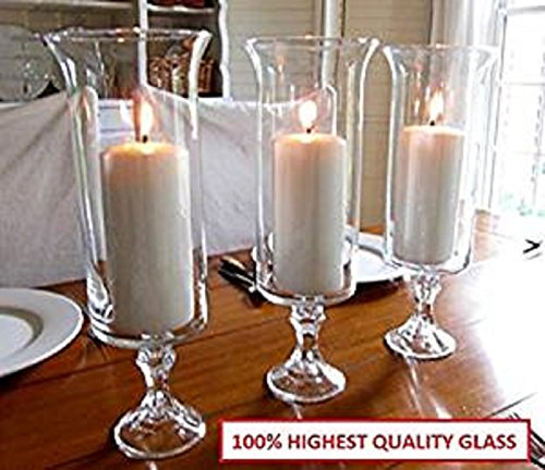13.5 inch Wedding Centerpice Flared Trumpet Hurricane Glass Vase Sets of 1, 4, 8 or 12 (12)