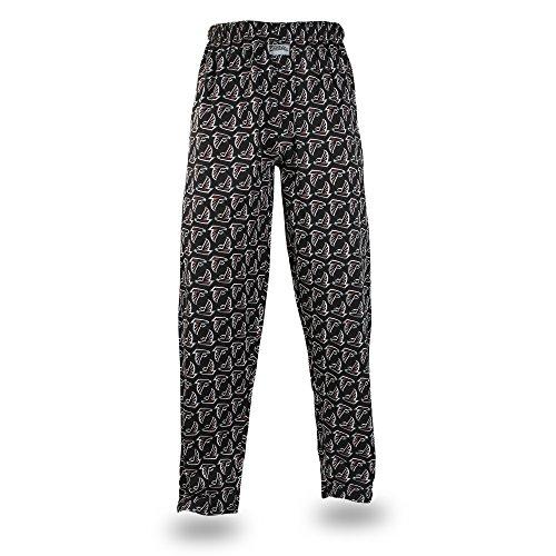 NFL Atlanta Falcons Men's Zubaz Team Logo Print Comfy Jersey Pants, Medium, Black