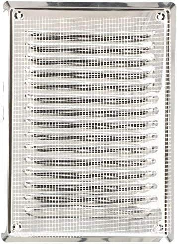 230 x 100 mm, acero inoxidable, para chimenea, con rejilla antiinsectos, resistente a la corrosi/ón Rejilla de ventilaci/ón KOTARBAU color plateado