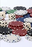 Dice and Poker Chips Gambling Journal: 150 Page Lined Notebook/Diary