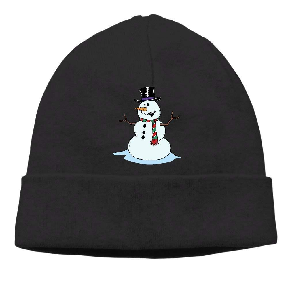 boy Unisex Snowman with Xmas Scarf Classic Fashion Daily Beanie Hat Skull Cap Go Ahead