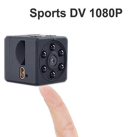 Fishoil Deporte Mini cámara Magnetic Spy HD 1080P Grabadora espía de 32GB con visión Nocturna y