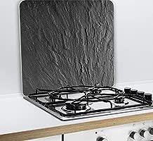 Wenko 2712984500 Multi Placa de Pizarra para Cristal y cerámica, Tabla de Cortar, Vidrio Templado, Negro, 56 x 50 x 0,5 cm