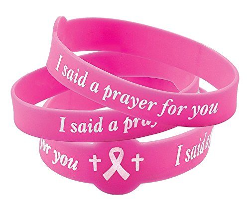 Scott Allah Design - 12 PRAYER BRACELETS Breast Cancer Awareness Pink Ribbon (Cooking Mama Bundle compare prices)
