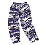zubaz pants purple - NCAA Washington Huskies Men's Zubaz Camo Print Team Logo Casual Active Pants, Large, Purple/Gray/Black