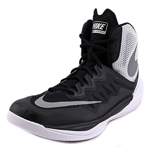 NIKE MENS PRIME HYPE DF II BASKETBALL SHOES BLACK/SILVER/WHITE Nike