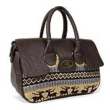 Nikky by Nicole Lee Women's Celia Sweater Knit Satchel Medium Handbag,Brown, Bags Central