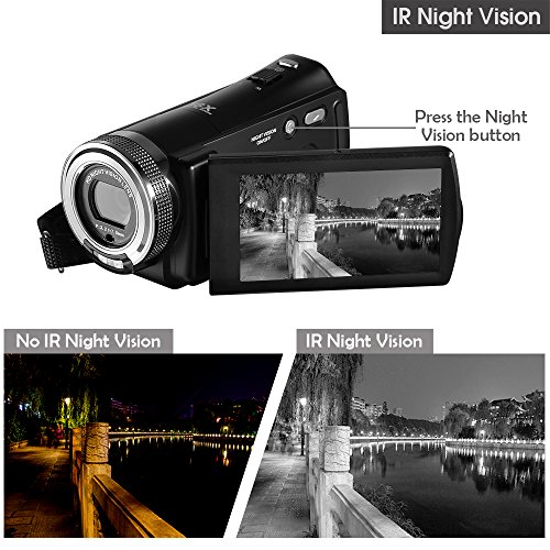ORDRO HD Camcorder 1080P 30FPS 20MP Infrared Night Vision Digital Video Camera by ORDRO (Image #1)