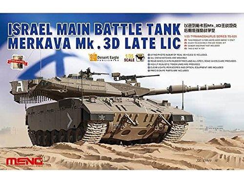 c8b3be341a80 Amazon.com  Meng 1 35 Israel MBT Merkava MK. 3D Late LIC - Plastic Model  Kit  TS025  Toys   Games