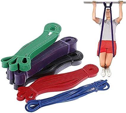 208 cm Résistance De Boucle Bande Rouge Exercice Fitness Gym Yoga Workout Training