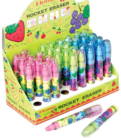 Scent Rocket Erasers - 36 pieces 3 pcs sku# 1777902MA