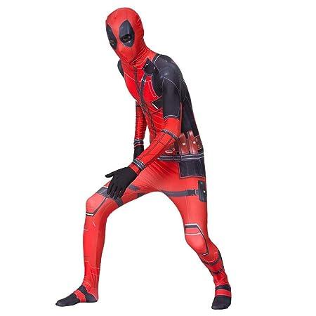 NJIUH Deadpool Cosplay Siameses Ajustados Niño Adulto ...