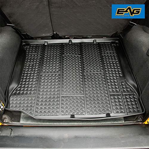 EAG Black Rear Cargo Area Liner Truck Mat Carpet Fit for 07-18 Jeep Wrangler JK