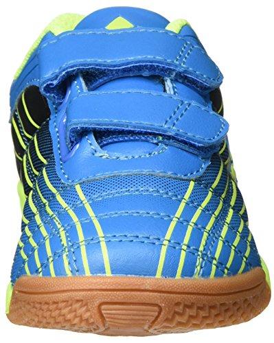 Lico Rockfield V - Zapatillas deportivas para interior de material sintético niños Azul (Blau/schwarz/lemon)