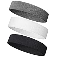 NEXTOUR Headband/Wristband for Men and Woman, 3PCS/ 6PCS Sweatband& Sport Headband Perfect for Working Out, Running, Yoga, Crossfit- High Stretch& Moisture Wicking from NEXTOUR