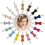 Prohouse 16PCS 2.7  Baby Nylon Headbands Hairbands Hair Bow Elastics for Baby Girls Newborn Infant Toddlers Kids (Style 2)