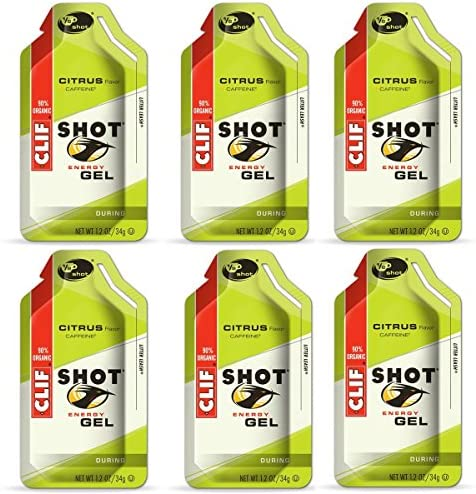 Clif Shot Gel – Citrus – 6 Pack 6 x 1.2oz Packs