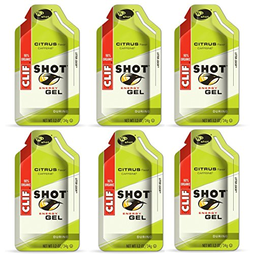 Clif Shot Gel - Citrus - 6 Pack (6 x 1.2oz Packs)
