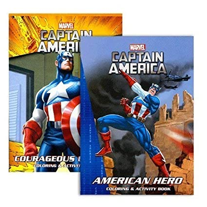Marvel Captain America Coloring Book