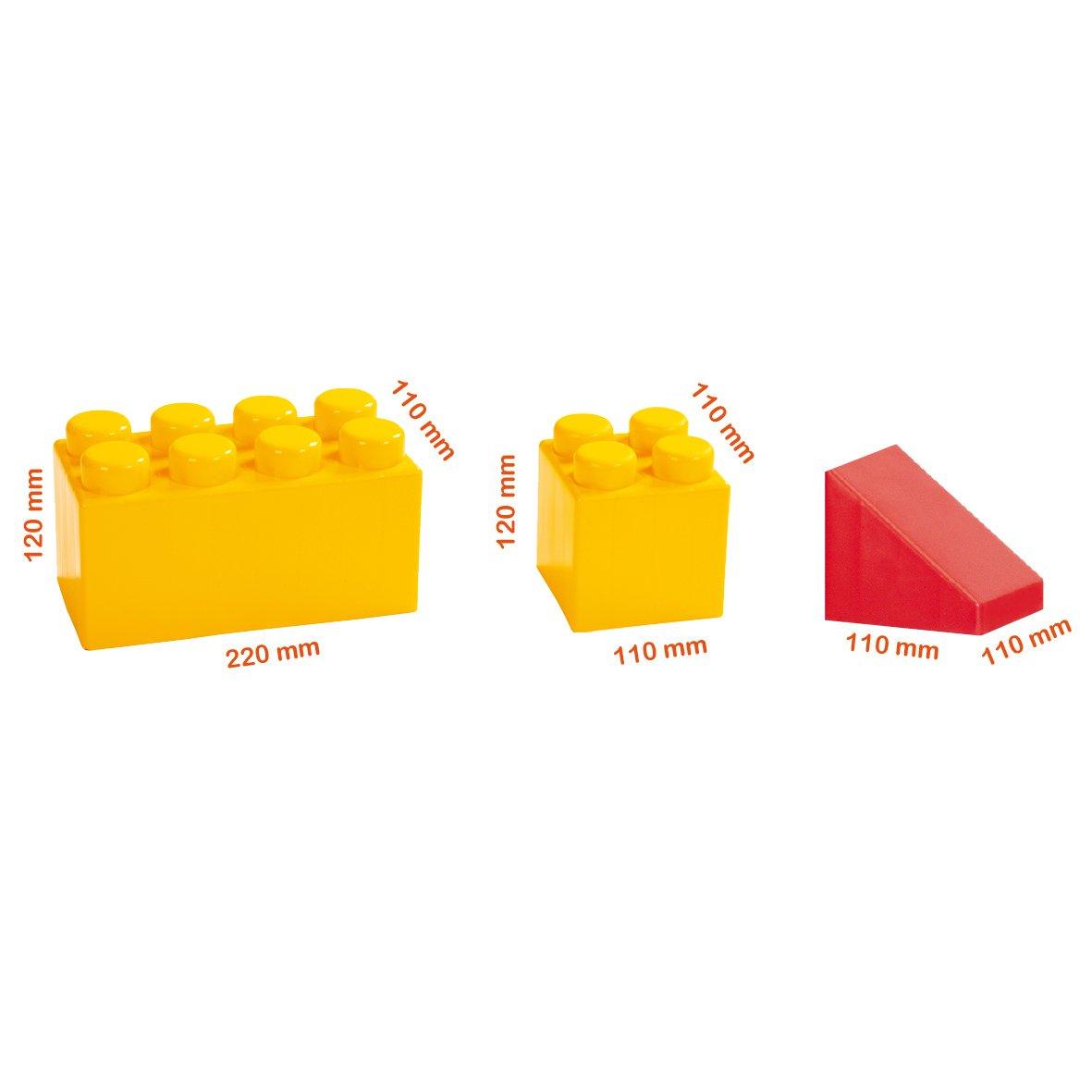 36 pi/èces 10591 Import Allemagne Wader Maxi briques XXL