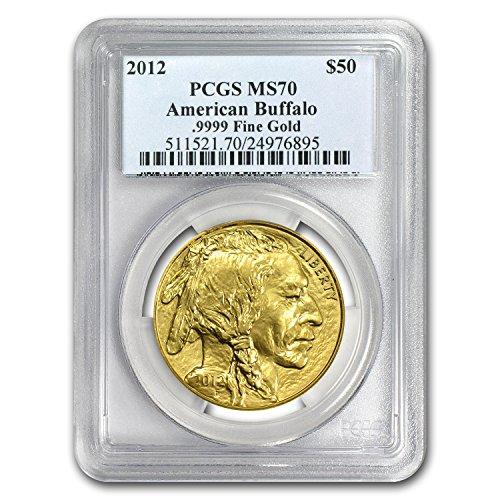 2012 1 oz Gold Buffalo MS-70 PCGS 1 OZ MS-70 PCGS