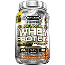 MuscleTech Premium Gold 100% Whey Protein Powder, Ultra Fast Absorbing Whey Peptides & Whey Protein Isolate, Double Rich Chocolate, 2.23lbs