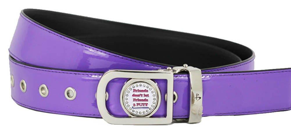 Giggle Golf Women's Ball Marker Belt Large Purple Friends