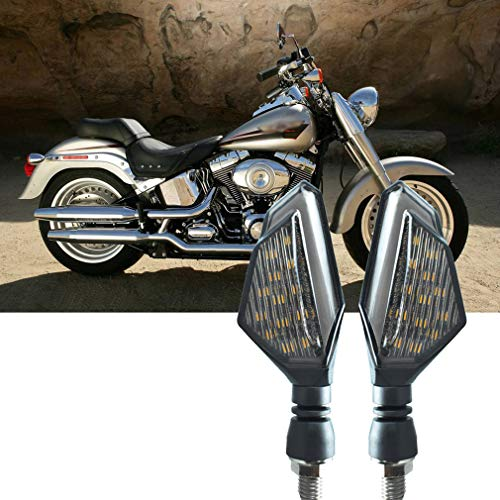 CHCYCLE Universal Motorcycle LED Turn Signal Lights Waterproof Front Rear Indicator Blinker Light Daytime Running Lights