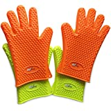 O2shine Silicone BBQ Gloves-Heat Resistant-Good for Grilling/Boiling/Baking-Light/Flexible