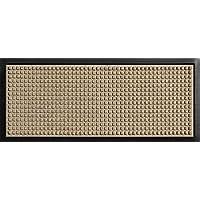 "Hudson Exchange 4002 Waterhog Classic Boot Tray Mat, 34"" L x 15"" W, 3/8"" thick, Camel"