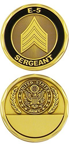 U.S. Army Sergeant E-5 Challenge Coin ()