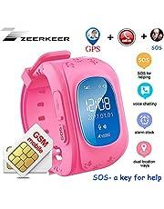 Reloj inteligente para niños, rastreador de GPS Reloj inteligente Podómetro con llamada SOS Alarma anti-perdida Monitor remoto Localizador GPS / LBS Pulsera inteligente El mejor regalo para niñas Niños