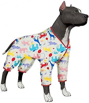 LovinPet Dog Pajamas, Large Dog Clothes Dog Pajamas Post Surgery Wear,  Pitbull 100% Cotton Large Dog Shirt for Labrador Doberman Boxer Lightweight