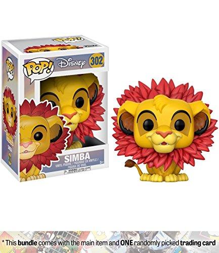 Simba [Leaf Mane]: Funko POP! Disney x Lion King Vinyl Figure + 1 Classic Disney Trading Card Bundle (20094) (Lion King Sarabi)