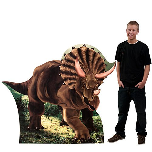 4 ft. 8 in. Triceratops Large Dinosaur Standee Standup Photo Booth Prop Background Backdrop Party Decoration Decor Scene Setter Cardboard Cutout