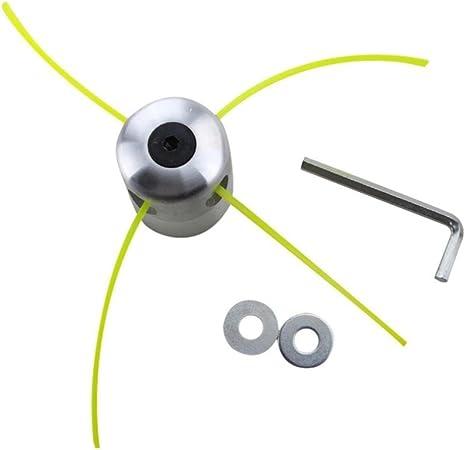 Set de bobina para desbrozadora de gasolina con cabezal de corte doble e hilo de aluminio de Igemy: Amazon.es: Hogar