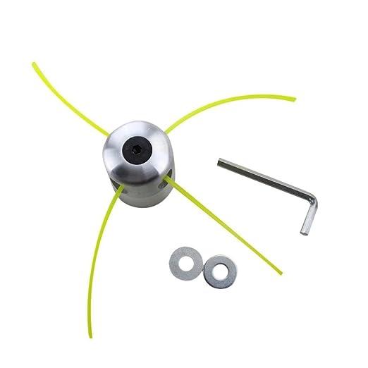 Set de bobina para desbrozadora de gasolina con cabezal de corte doble e hilo de aluminio de Igemy