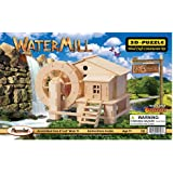 Puzzled Water Mill 3D Jigsaw Woodcraft Kit Wooden Puzzle