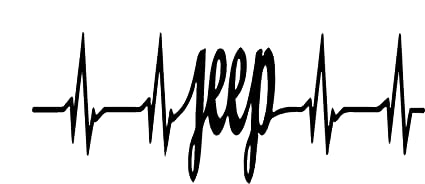 Amazon com: Jeep Word Heartbeat Logo Vinyl Stickers Symbol 6