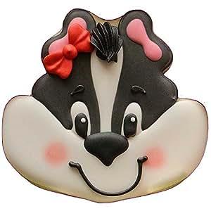 "Skunk Face Plastic Cookie Cutter 3.75"" Cc114"