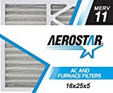 Aerostar 16x25x5 MERV 11 Honeywell Replacement Pleated Air Filter, Made in the USA 15 7/8' x 24 3/4' x 4 3/8', 2-Pack