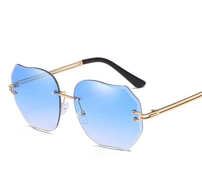 ZHMIAO Gafas De Sol Para Mujer De Gran Tamaño Sin Montura ...