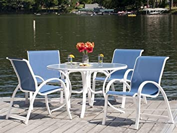 Wonderful Telescope Casual Aruba II Sling Dining Set