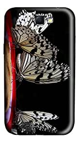 thin case macro butterflies PC case/cover for samsung galaxy N7100/2
