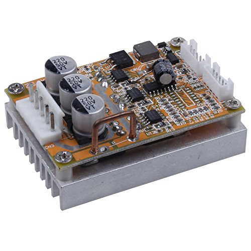 SODIAL BLDC DC 5-36V Brushless Sensorless Motor Control Board Motor Driver Regulator Monitor 350W High Power DC Motor Speed Controller Module with Heat Sink, Control Switch by SODIAL