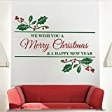 Merry Christmas Wall Stickers Christmas Wall Decals Removable Vinyl Christmas Stickers for Teachers